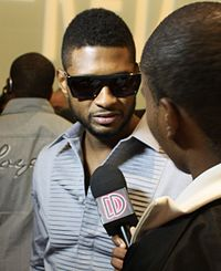 Usher at Rico Love's Division 1 launch in 2010