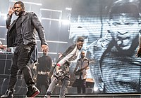 Usher on the URX Tour in 2014