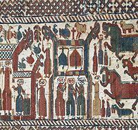 Skog tapestry, made most probably during the late 13th century.