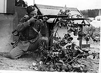 A Swedish soldier during World War II. Sweden remained neutral during the conflict.