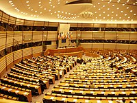 The EU parliament in Brussels. Sweden is a member state of the European Union.