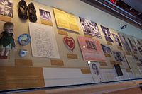 Mementos of Hillary Rodham's early life, shown at the William J. Clinton Presidential Center