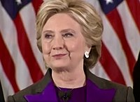 Clinton delivering her concession speech
