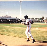Jordan in training with the Scottsdale Scorpions in 1994