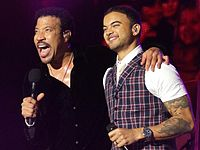 """Richie and Guy Sebastian performing """"All Night Long"""" during Richie's 2011 Australian and New Zealand tour"""