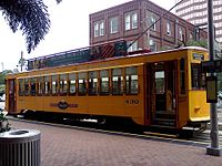 Street Car at Franklin and Whiting Street
