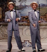 """Hope and Bing Crosby sing and dance during """"Chicago Style"""" in Road to Bali (1952)"""