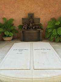 Graves of Bob and Dolores Hope, on the grounds of the Mission San Fernando Rey de España