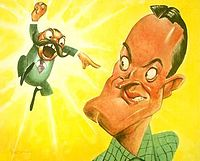 Jerry Colonna and Hope, as caricatured by Sam Berman for NBC's 1947 promotional book