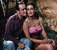 Hope with Dorothy Lamour in Road to Bali (1952)