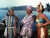 Hope, Bing Crosby and Dorothy Lamour in Road to Bali (1952)
