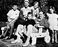 The Hope family. Back, from left: Tony, Dolores, and Linda. Front, from left: Kelly, Bob, and Nora.