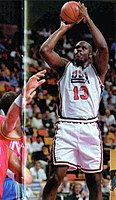 O'Neal with the US national team at the 1994 FIBA World Championship