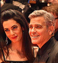 Clooney and Alamuddin at the 66th Berlin International Film Festival in Germany in 2016