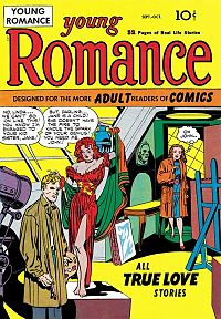 Young Romance #1 (Oct. 1947). Cover art by Kirby and Simon.