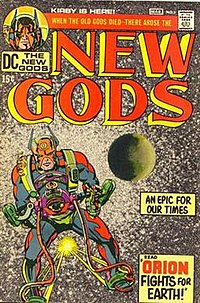 The New Gods#1 (March 1971) Cover art by Kirby and Don Heck.