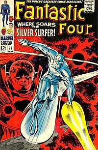 Fantastic Four #72 (March 1968). Cover art by Kirby and Joe Sinnott, illustrating Kirby Krackle.