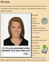 An automated online assistant on a website, with an avatar for enhanced human–computer interaction.