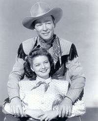 Publicity photo of Roy Rogers and Gail Davis, 1948