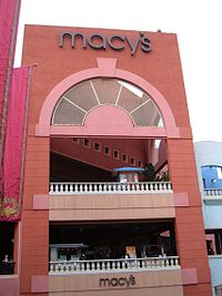 A Macy's at Westfield Horton Plaza in San Diego