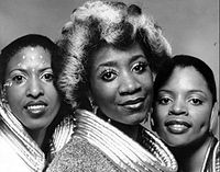 LaBelle (center) with her Labelle bandmates Nona Hendryx and Sarah Dash in a 1974 promotional photo