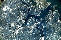 Boston as seen from the International Space Station (ISS)