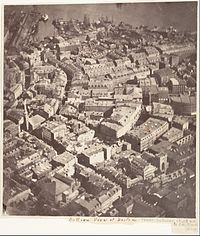 Boston, as the Eagle and the Wild Goose See It, 1860, by J.W. Black, the first recorded aerial photograph