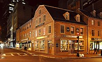 In the nineteenth century, the Old Corner Bookstore became a gathering place for writers, including Emerson, Thoreau, and Margaret Fuller. Here James Russell Lowell printed the first editions of The Atlantic Monthly.