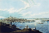 View of downtown Boston from Dorchester Heights, 1841