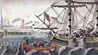 In 1773, a group of angered Bostonian citizens threw a shipment of tea by the East India Company into Boston Harbor as a response to the Tea Act, in an event known as the Boston Tea Party.