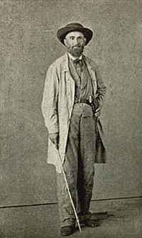 General Early, disguised as a farmer, while escaping to Mexico, 1865