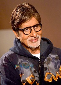 Amitabh Bachchan in 2014. The most successful Indian actor in the 1970s and 1980s, he is considered one of India's greatest and most influential movie stars.