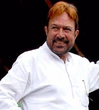 """Rajesh Khanna in 2010. The first Indian actor to be called a """"superstar"""", he starred in 15 consecutive hit films from 1969 to 1971."""