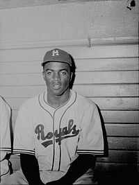 Jackie Robinson with the Montreal Royals in July 1946