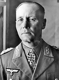 Erwin Rommel, German Field Marshal who led the North African Campaign.