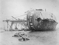 SMS Adler wrecked at Apia, 1889