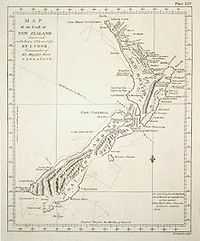 Cook's map of New Zealand