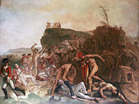The Death of Captain James Cook, 14 February 1779, an unfinished painting by Johann Zoffany, c.1795