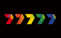 Seven's five colour variant logos used from 1 January 2000 to 13 September 2003