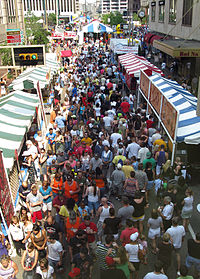 Approximately 1 million attend Taste of Cincinnati yearly, making it one of the largest street festivals in the United States.