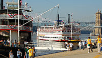 Tall Stacks, held every three or four years between 1988 and 2006, celebrated the city's riverboat heritage.