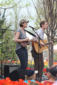 Local folk band Shiny and the Spoon perform at the Cincinnati Zoo and Botanical Garden.