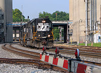 A GP50 (now rebuilt as a GP33ECO) approaches Graham Junction in Charlotte, North Carolina, on June 22, 2005