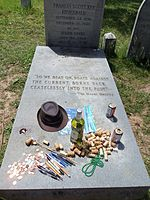 Fans of Fitzgerald often leave mementos at his grave.