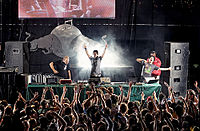 The Glitch Mob performing in the Netherlands in 2010