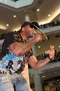 While hip hop music sales dropped a great deal in the mid-late 2000s, rappers like Flo Rida were successful online and with singles, despite low album sales.