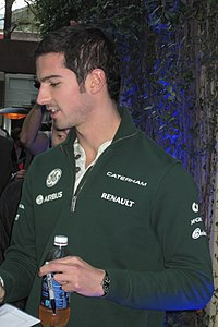 Rossi at the 2013 United States Grand Prix, where he participated in FP1 for Caterham F1