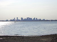 View of Boston from Winthrop's Point Shirley in 2003