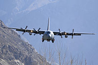 Pakistan's airborne troops performed combat jump operations from Pakistan Air Force's C-130 Hercules aircraft, 2010.