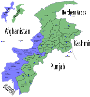 Intelligence map: Navy intelligence maps shows the districts of the FATA in blue and Khyber-Pakhtunkhwa in green.